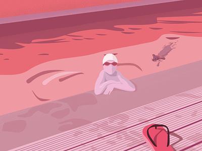 Paddle in pink design illustrator ai pink 2d illustration
