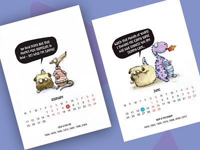 Calendar 2019 2019 print watercolour illustration calendar