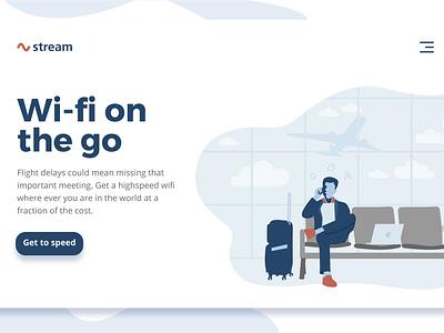 Airport Wi-fi concept design wifi homepage ui illustrator illustration