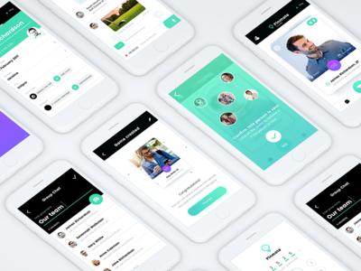 Social Network Concept pin-mate concept mobile v-jet ux ui