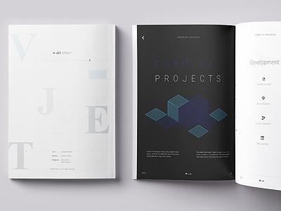 v-jet group Magazine design concept magazine v-jet