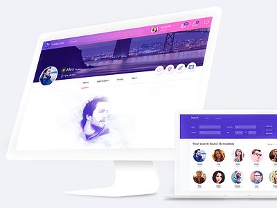 Find Beloved Concept web ux ui design concept v-jet