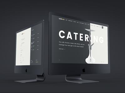 Hookah Catering website flat ui ux v-jet group minimalism concept web