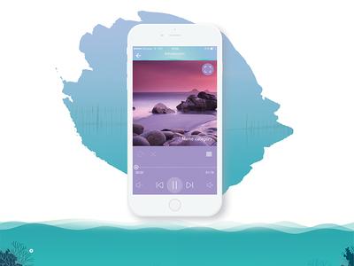 Fuxia App meditation relax design v-jet group fuxia concept mobile v-jet ux ui