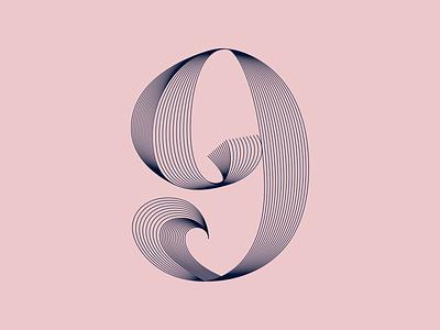 QUARANTYPE - 9 X 36 Days Of Type #7 quarantype numbers 36daysoftype07 36days 36daysoftype motiongraphics typography lettering graphicdesign artdirection alvaromelgosa