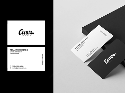 AMR studio Branding.