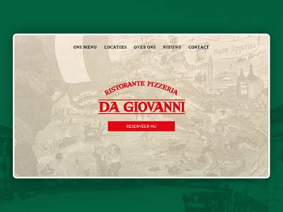 Da Giovanni Marketing Website 🍕 restaurant food website ui  ux web design
