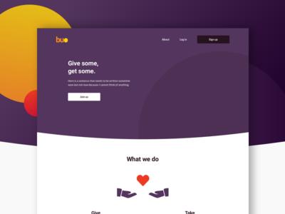 Buo.ph - A modern donation platform ux donate branding charity ui design mobile web money