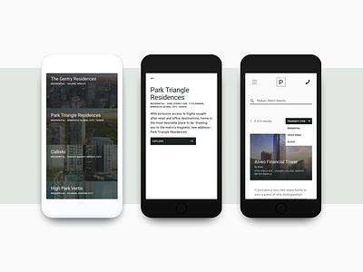 Parcel of Property Mobile real estate home office ux ui floorplan mobile layout design web