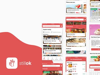 Stillok - eliminate food waste mobile layout design app concept app food