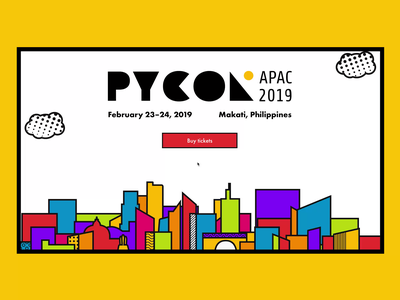 PyCon APAC 2019 logo ux design ui design layout website web design parallax
