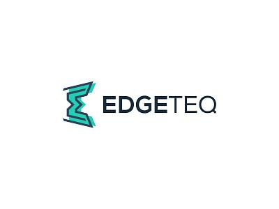 EdgeTeq modern dipe software it letter tech edge technology logo