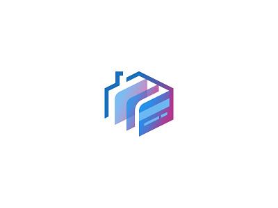 Digital Deposits real estate home finance cash dipe digital money roof house deposit credit card logo