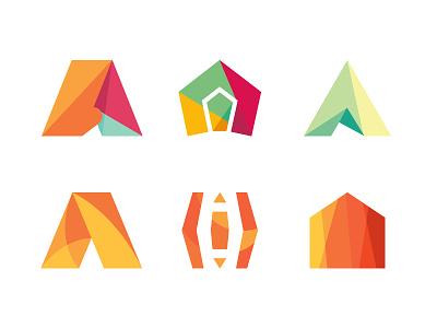 AARTO architecture design studio alternatives monogram simple studio brand different perspective dipe logo geometry architecture polygon letter a