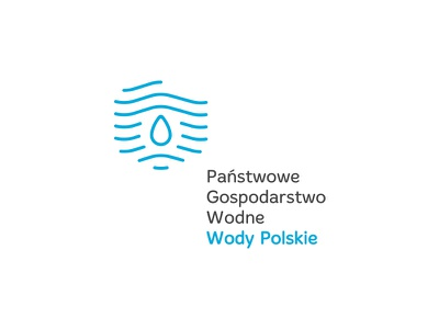National Water Management c2 logo line dipe blue wave drop country poland water