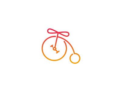 theTrip_3 bicycle logo dipe simple line air fly travel baloon bike