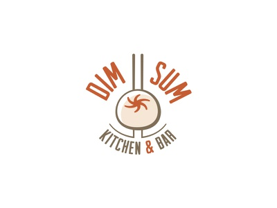 DimSum Kitchen&Bar asia restaurant bar noodle chopsticks china food logo dipe dim sum