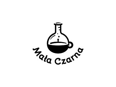 Mała Czarna Coffee House espresso cafe logo dipe drink bar cup potion lab science coffee