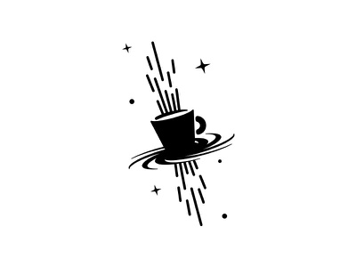 Mała Czarna Coffee House c1 galaxy logo espresso drink dipe cup coffee cafe black hole star space bar