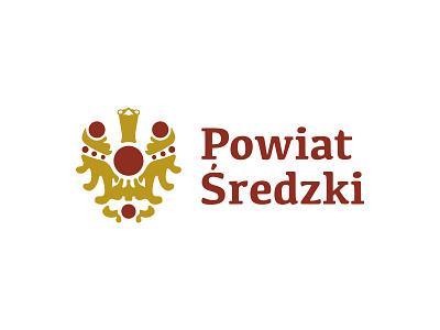 Powiat Średzki medival legacy gem heraldry logo dipe treasure gold crest bird eagle