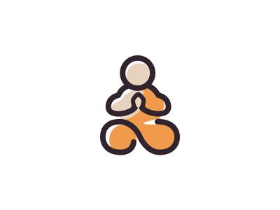 Sensi dipe logo senses harmony knowledge think infinity analyse man pray meditation monk