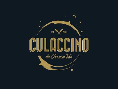 Culaccino Prosecco Van dipe logo glass italy retro drink stain van prosecco badge wine