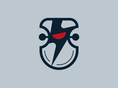 Bot Shield sentry warrior fight protection evil logo lightning guard shield eye robot