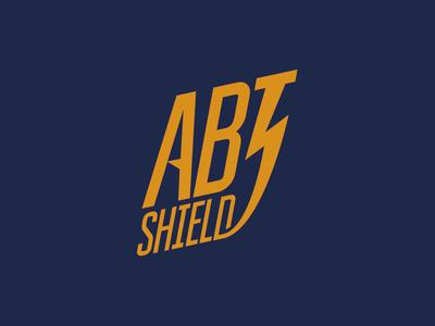 Abt shield thunderbolt word dipe logo lightning thunder