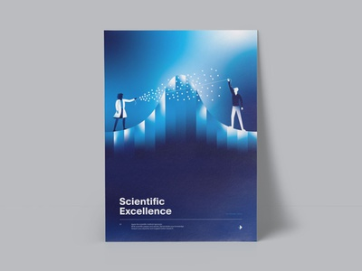 Values Poster Series scientific illustration art simplify product design customer poster design invent science illustrator vector poster illustration