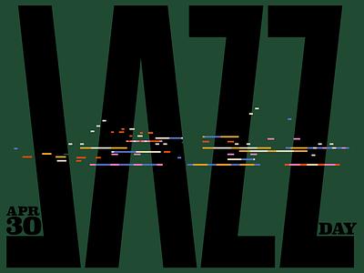 Happy Jazz Day! vectorart typeface adobe vector artwork illustration design illustrator poster type jazz