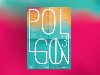 Poligon 3 poster brochure artwork design print layout branding gradient logo univers typography brand