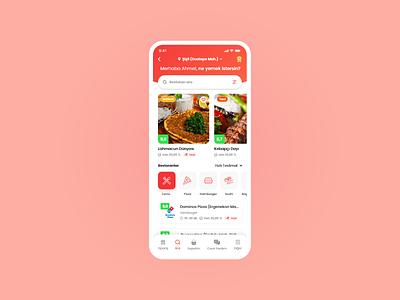 Yemeksepeti App Redesign app flat minimal ux ui design order online food