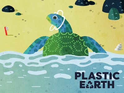 Plastic Earth Green Turtle
