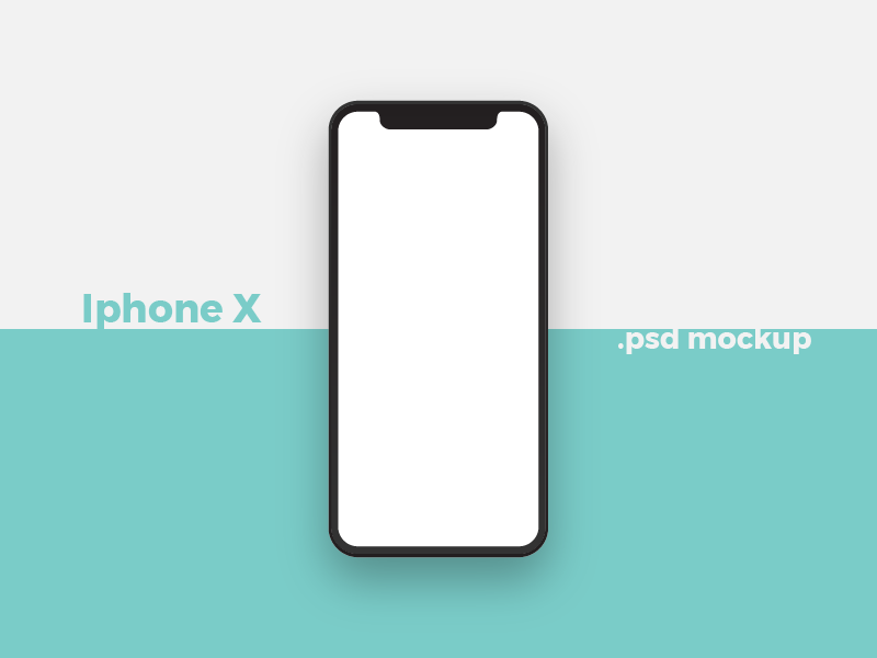 Free Iphone X - Mockup photoshop psd minimal x iphone iphone x free mockup