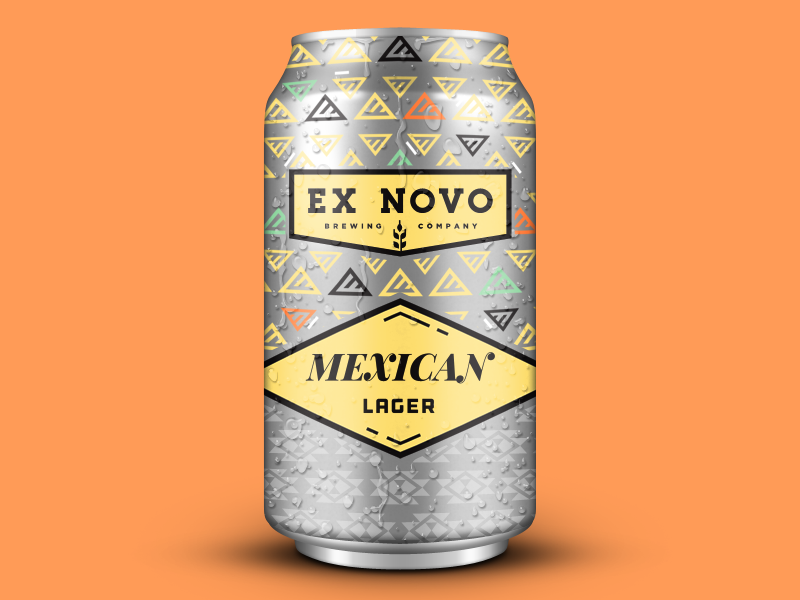 Mexican Lager aluminum print pattern summer ex novo mexican beer can