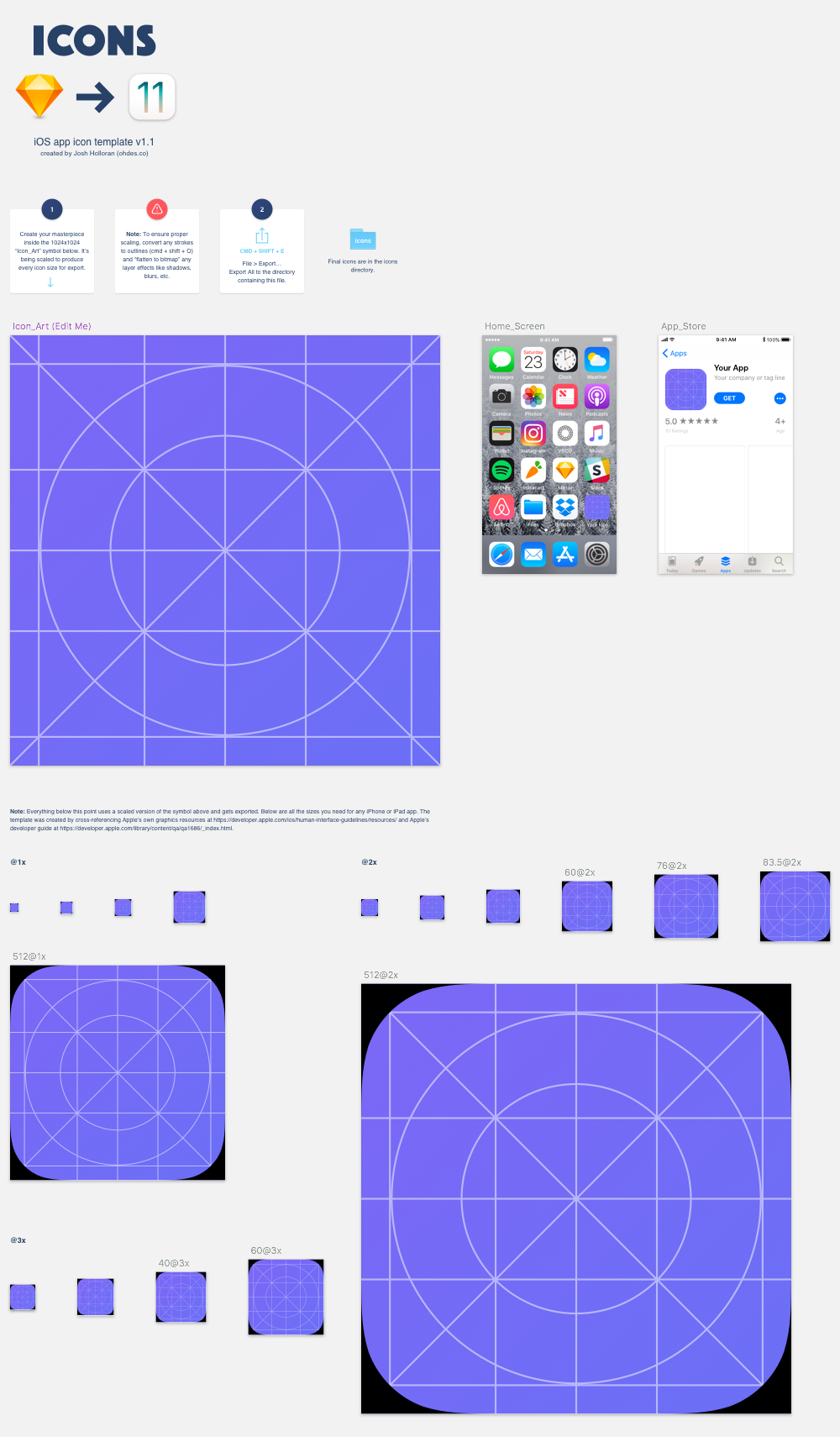 Icons template