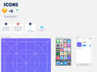 Ios 11 app icon template for sketch by josh holloran dribbble icons template maxwellsz