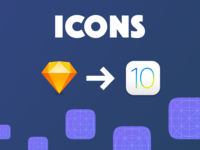 iOS 11 app icon template for Sketch