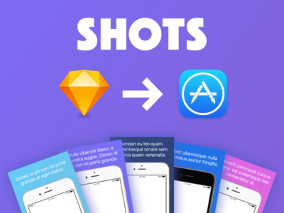 iPhone App Store screenshots template for Sketch