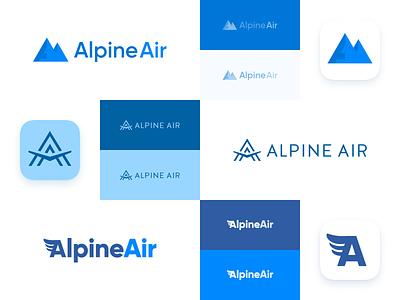 Alpine Air Logo Concepts monogram concepts logo mark mark logo identity brand branding