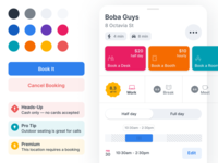 iOS Components palette card tiles slider time picker rating tip alert button control component library design system components