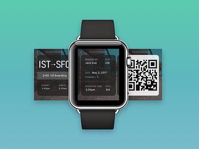 Boarding Pass   Daily UI #24 san francisco sketch ux ui ui design apple apple watch boarding pass
