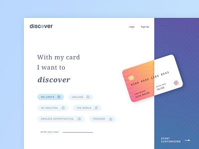discover x generation z sketch gradient empowering ui design web design consumer generation z card discover
