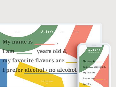 Museum of Drinks   Landing Page logo design typography interactive design graphic design colors fun web design museum branding branding landing page uiux