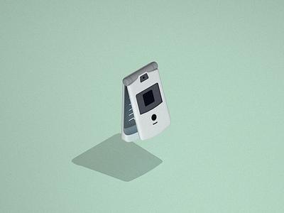 Flip Phone   Sketchbook vector sketch illustration cinema4d 3d product design old phone