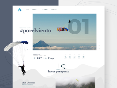 Air Academy academy air paragliding landing page homepage responsive web design ux ui
