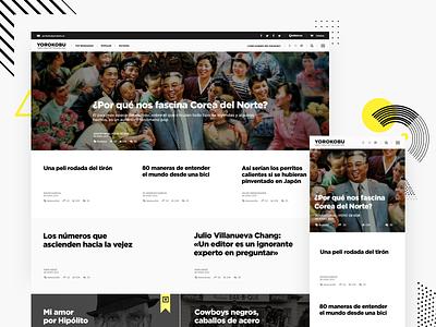 Yorokobu   Take a walk on the slow side news article minimal homepage website clean design interface ux ui responsive web