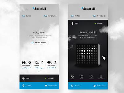 cuBS - Banc Sabadell design clean interface ux ios app ui