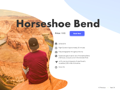 Travel page UI
