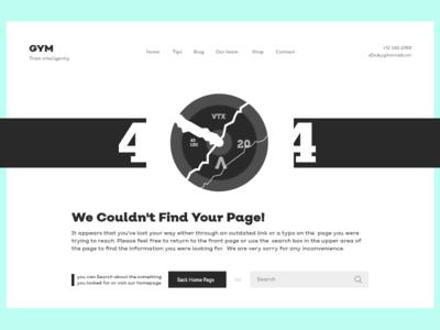 404 error page design - GYM